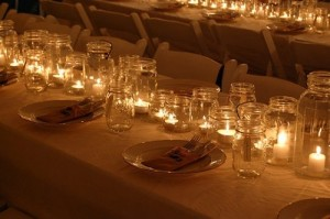 Candles in Jelly Jars for Party Lighting