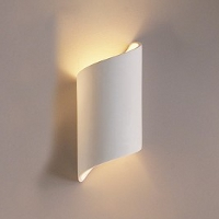 Ribbon-style cylinder sconce, ADA compliant