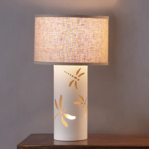 The dragonfly cutouts on this children's lamp make it perfect for the kid who loves bugs.