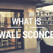 what is a wall sconce