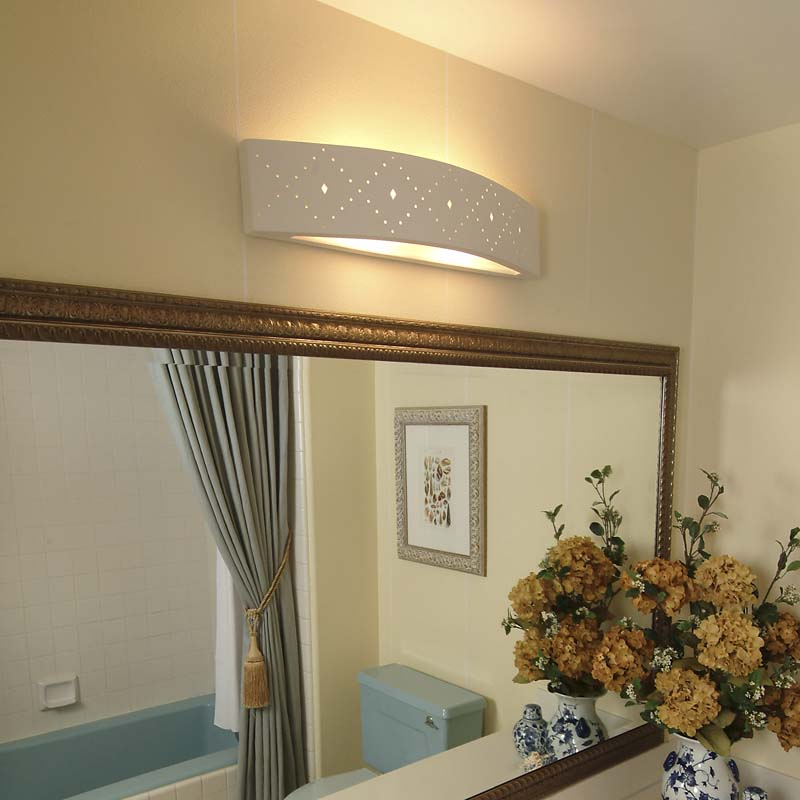 Ceramic bathroom lighting guide fabby lighting blog for Bathroom lighting design guide