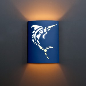 Majestic Marlin De Pacific Wall Sconce in Honorable-Blue