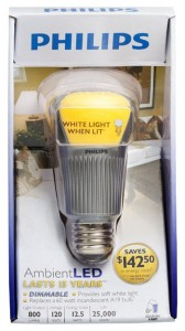 Packaging for an LED bulb that can be dimmed